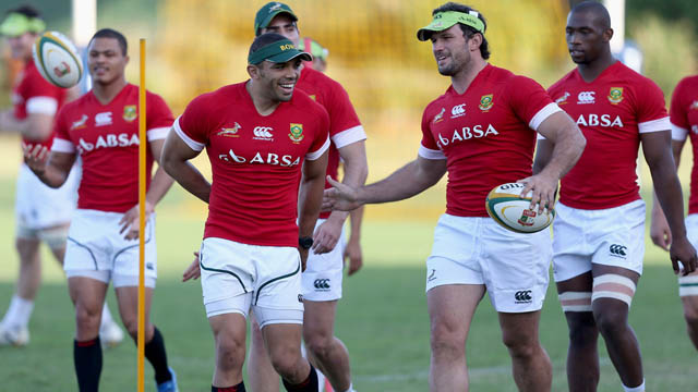 Springbok training session