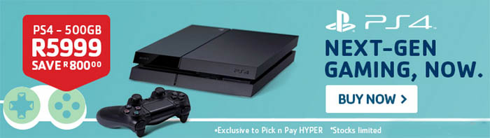 PS4 Pick n Pay special