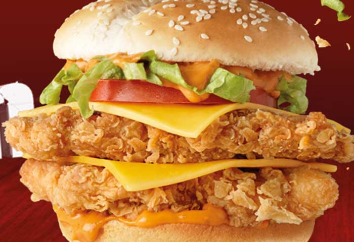 Double Crunch burger