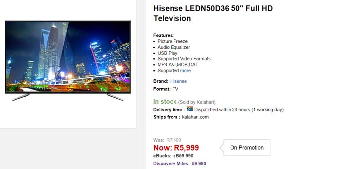 Hisense LED TV special from Kalahari