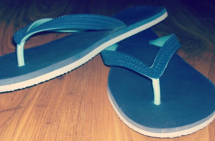 MRP Colourblock flip flops 1