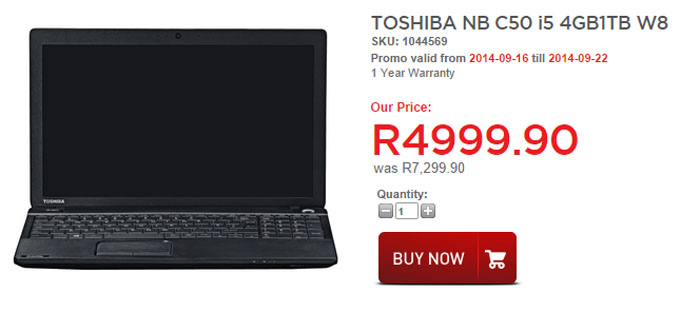 Toshiba special from HiFi Corp