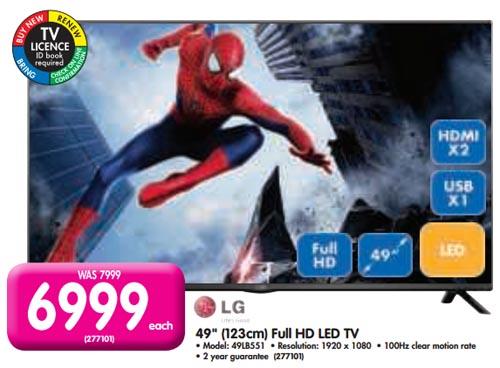 LG 49-inch LED TV from Makro