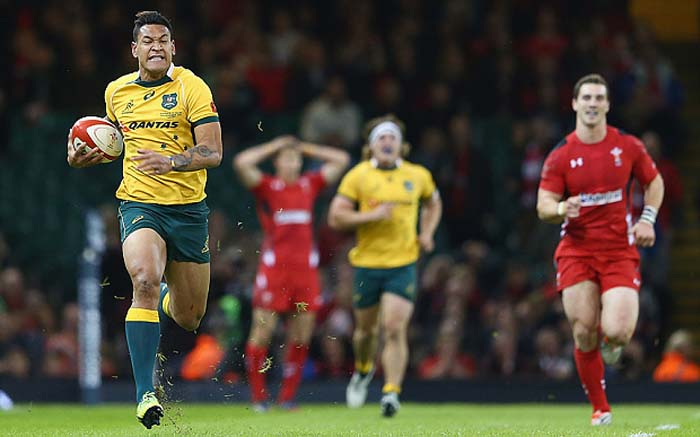 Folau vs Wales