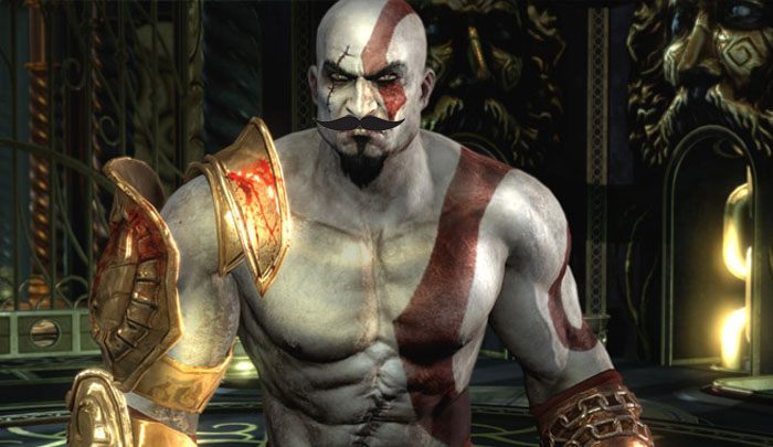 Kratos moustache
