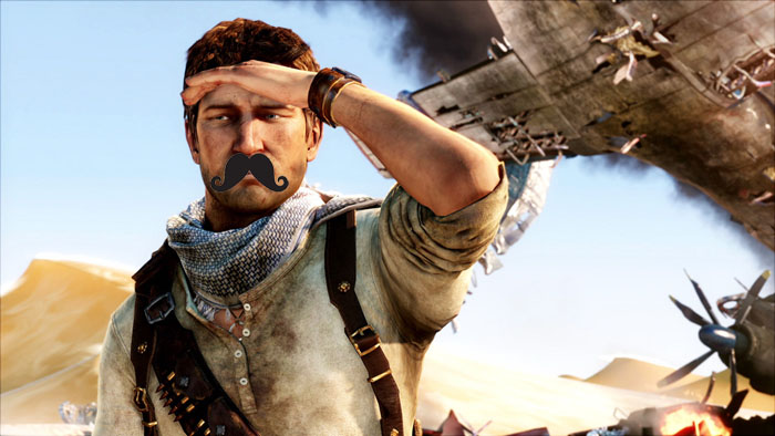 Nathan Drake moustache