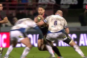 Luke McAlister Smashed By Double Tackle [Video]
