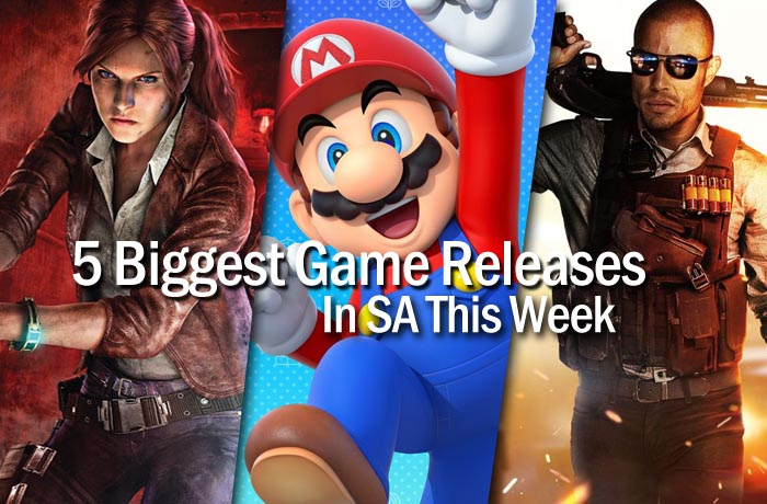 5 biggerst game releases in SA this week