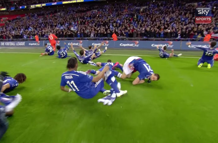 Celebration fail from Matic