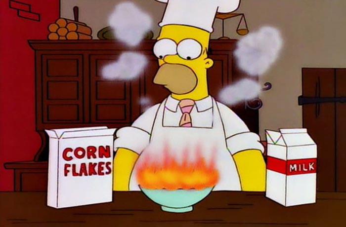 Homer cooking