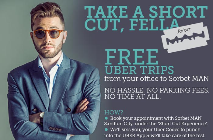 Sorbet and Uber Short Cut Experience header