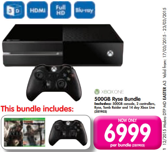 Xbox One bundle from Makro