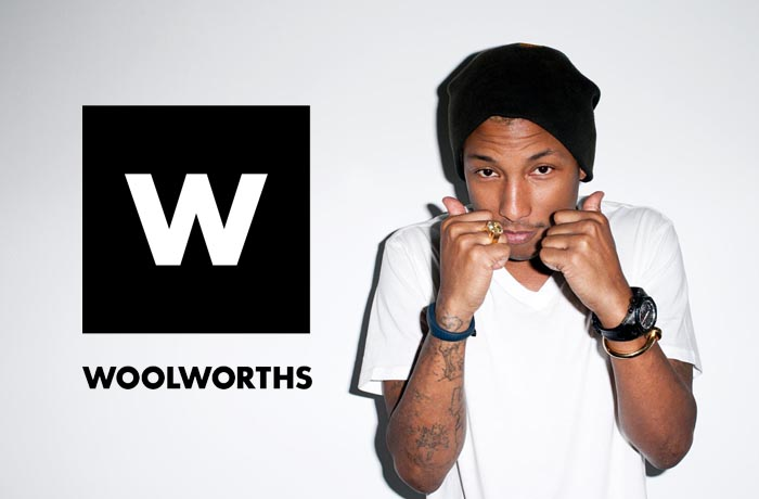 Pharrell Williams Woolworths