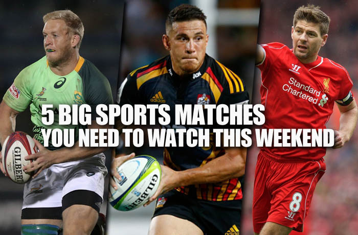 5 big sports matches you need to watch