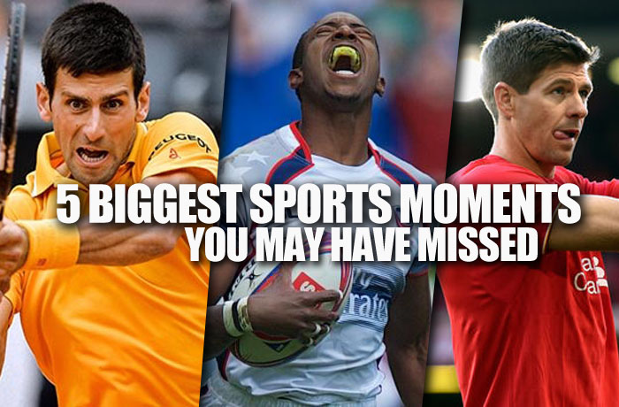 5 biggest sports moments you may have missed