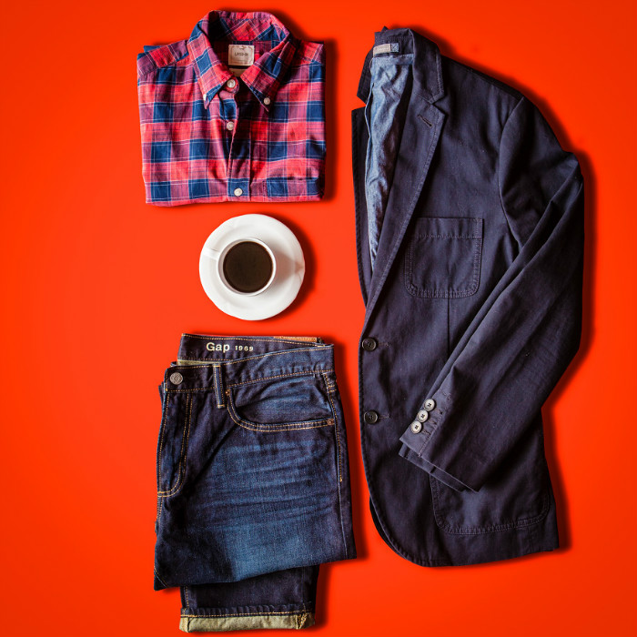 Gap surfplaid and rockway jeans