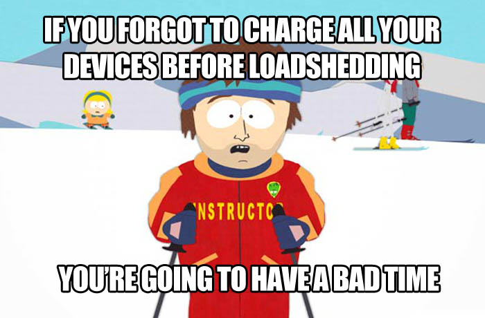 Loadshedding meme