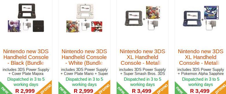 Nintendo 3DS specials from Raru
