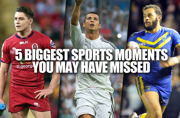 Weekend sports moments you may have missed