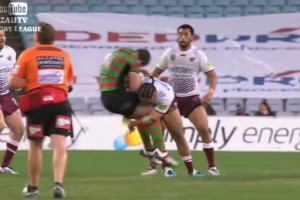 Matai Smashes Tyrrell in Massive Rugby League Tackle [Video]