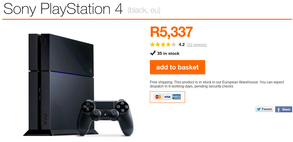 PS4 Special from Orange ZA