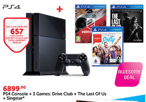 PS4 bundle from CNA