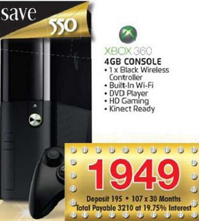 Xbox 360 4GB slim special from House and Home