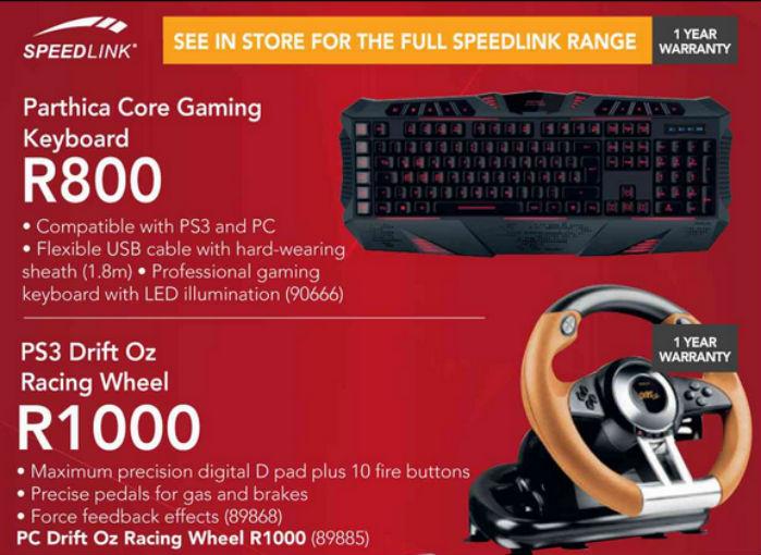 Keyboard and racing wheel special Incredible
