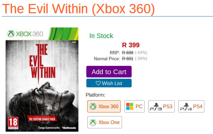 The Evil Within deal from Raru