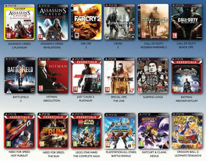 PS3 games 2 for 500