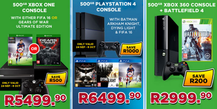 BT Games console specials