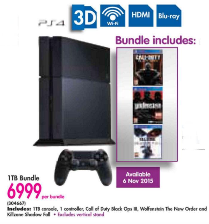 PS4 bundle from Makro