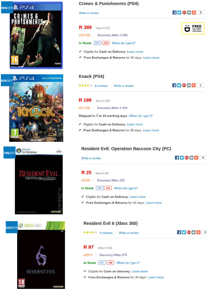 Takealot game specials