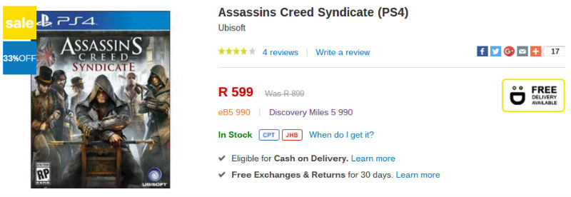 Assassins Creed Syndicate Takealot