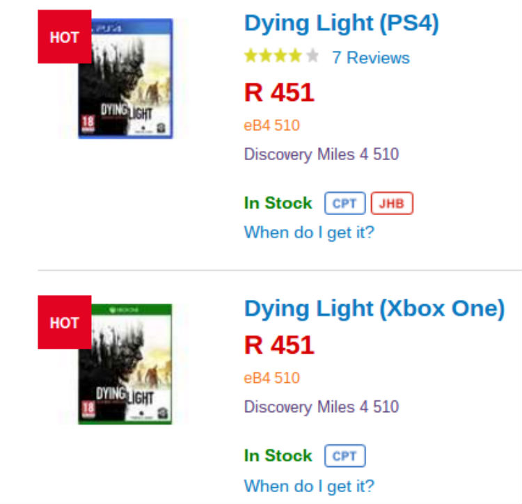 Dying Light Takealot Special
