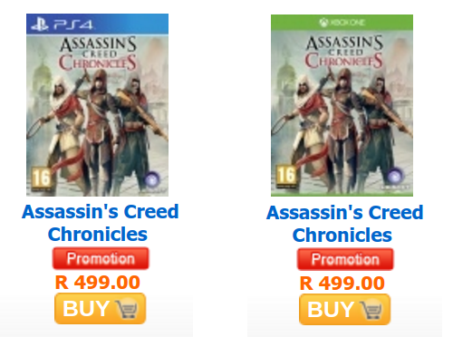 Assassin Creed Chronicles special AWX
