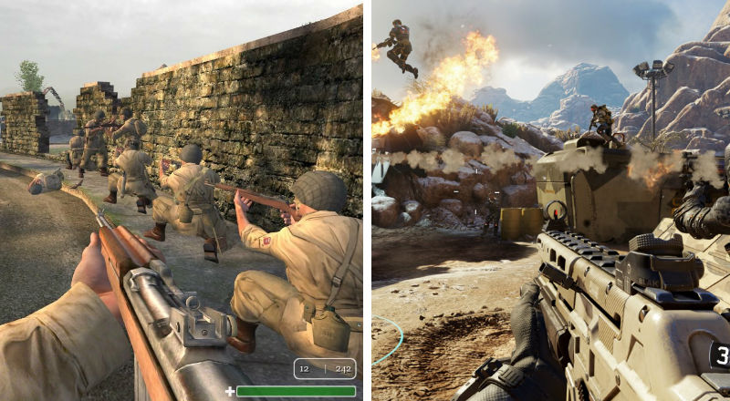 Call of Duty 1 Black Ops 3 compare