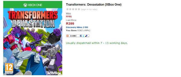Transformers Devastation Loot