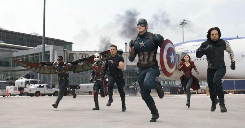 Captain America Civil War movie shot