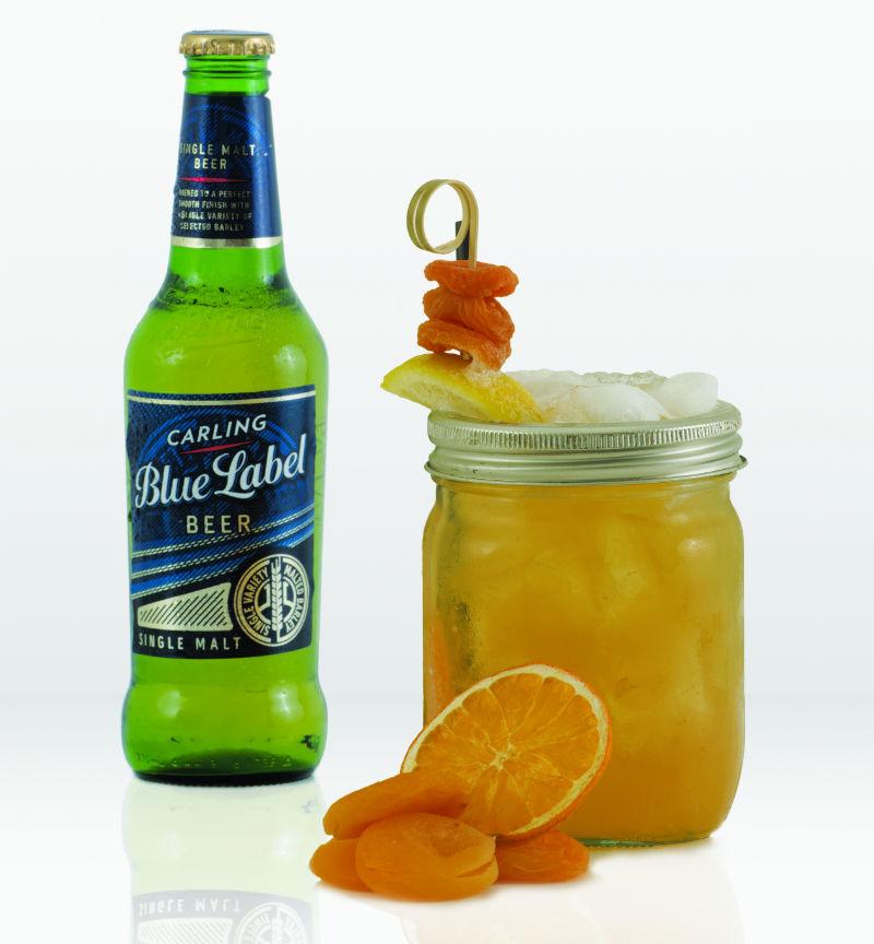 Blue Label cocktail jam jar