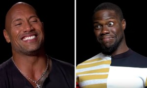 Kevin Hart The Rock impersonations