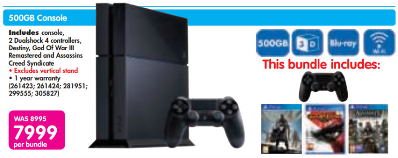 PS4 bundle from Makro