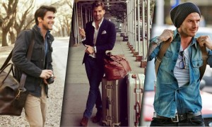 men travel fashion