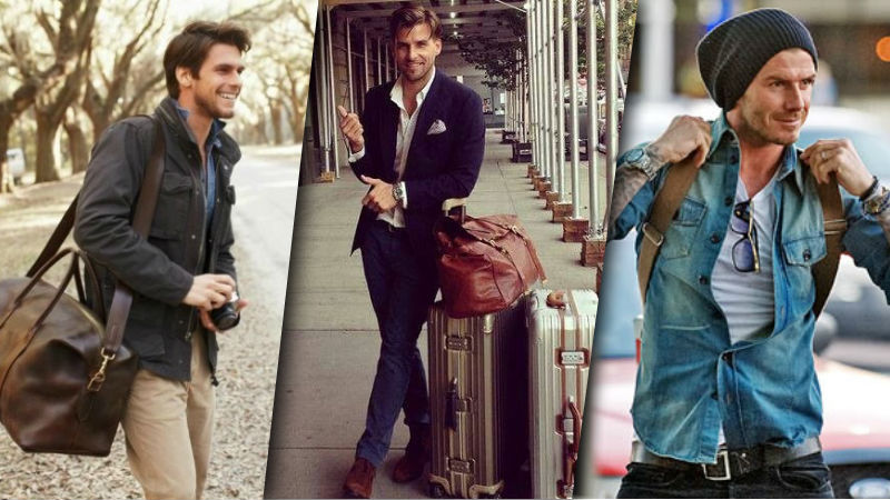 men travel fashion