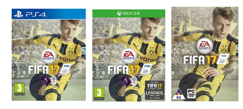 FIFA 17 packshots