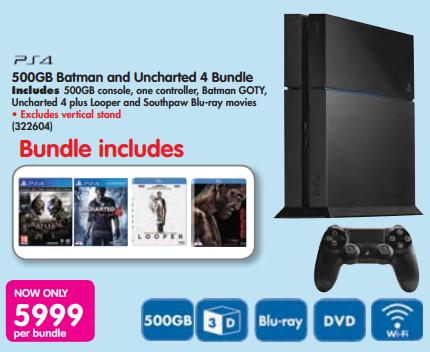 PS4 uncharted game bundle