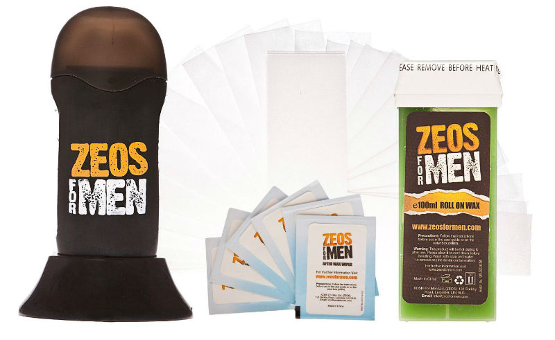 Zeos For Men Warm Waxing Starter Kit