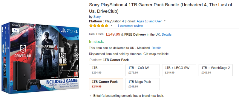 PS4 bundle Amazon