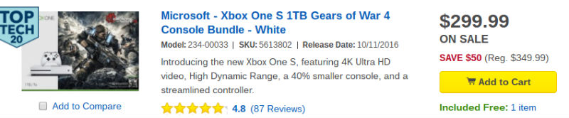 Xbox One S special Best Buy