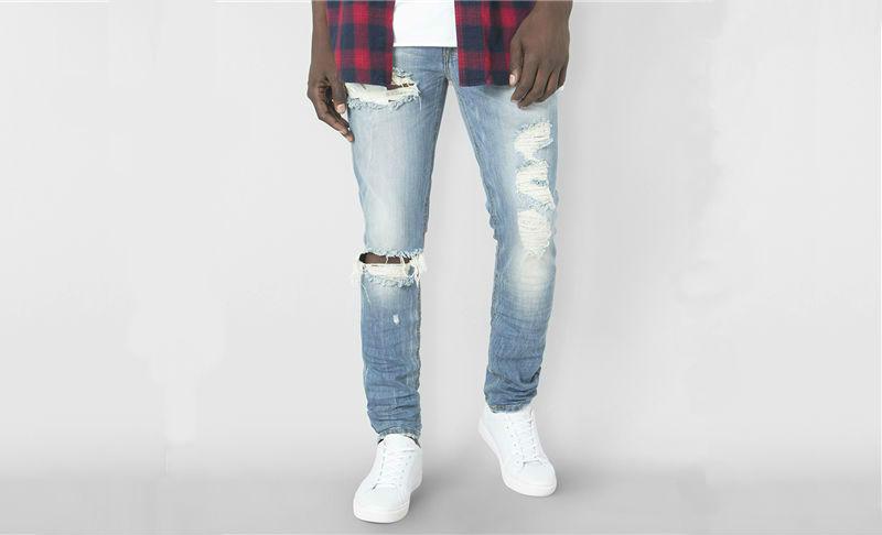 RJ Extreme Destroy skinny lightwash jeans 23